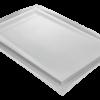 Receveur Solid Surface blanc lisse caniveau